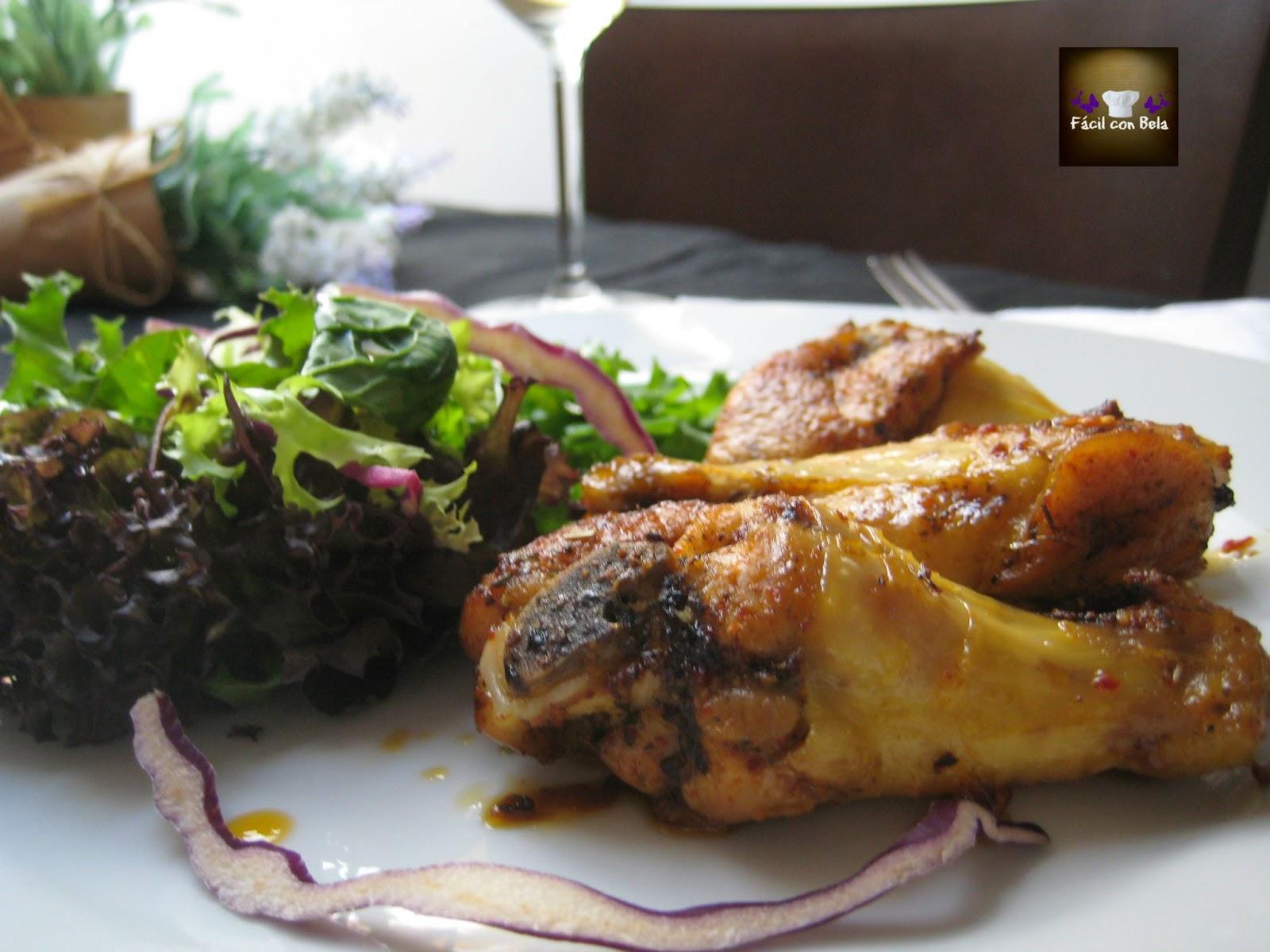 Alitas de pollo al horno, receta sana