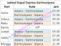 Info Jadwal Penyeberangan Kapal Express Jepara Karimunjawa Terbaru