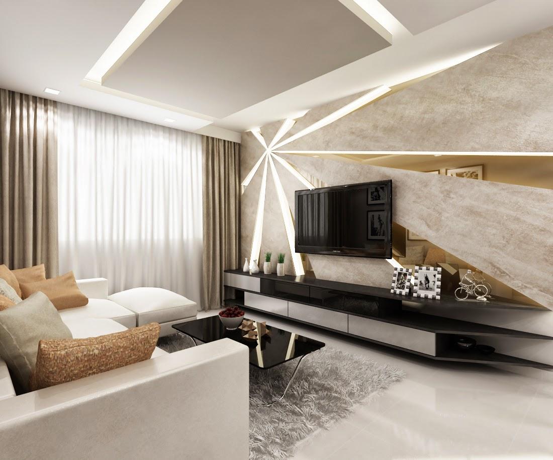 Interior Design Modern: Interior Design Guide: HDB 4 Rooms BTO Modern Contemporary