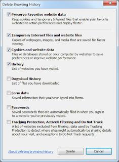 Internet Explorer History Clean