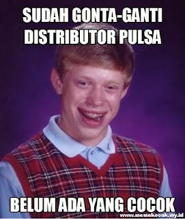 Meme Kocak Curhatan Penjual Pulsa