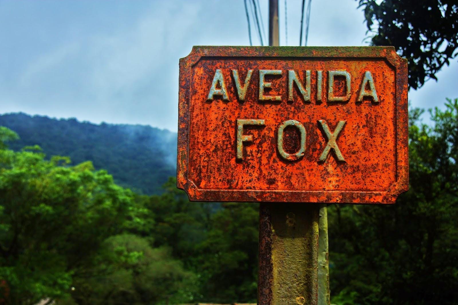 Avenida Fox, placa de Paranapiacaba