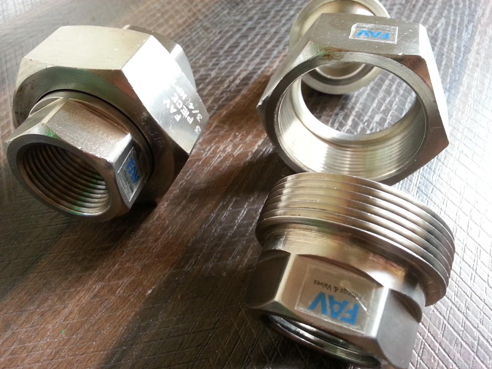 FAV 3 Piece Union   Precision Pipe Fittings