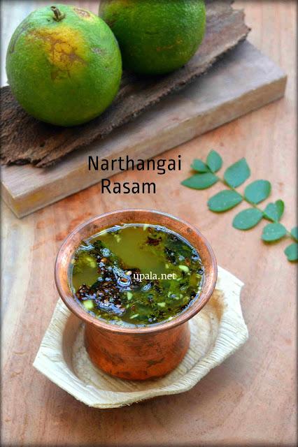 Narthangai Rasam/Citron Rasam (without toor dal)