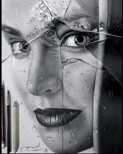 18-Broken-Glass-aymanarts-Realistic-Drawings-of-Celebrities-and-Other-www-designstack-co