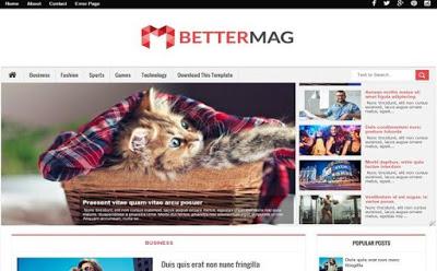 Better  Mag responsive magazine Blogger Template