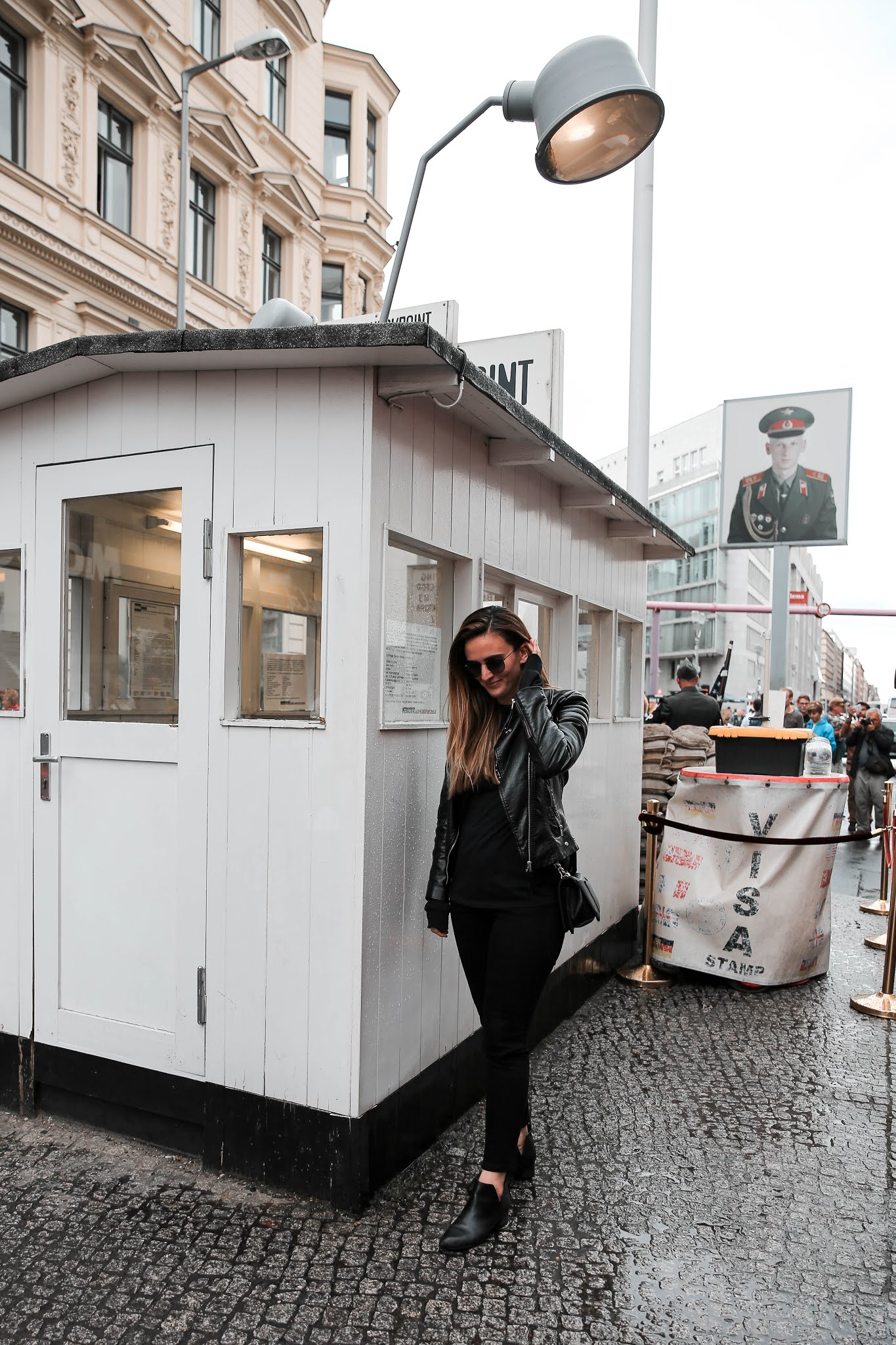 Alicia Mara at Checkpoint Charlie