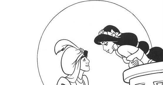 Scarica E Stampa Aladdin E Jasmine Da Colorare Disegni Da Colorare