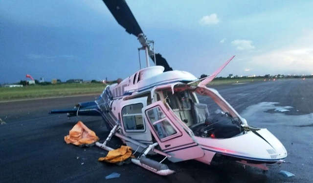 Se estrello Helicóptero en el Aeropuerto de Ciudad Guayana