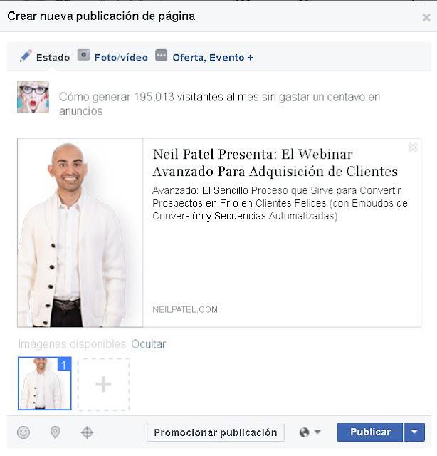 Publicacion programada en Facebook