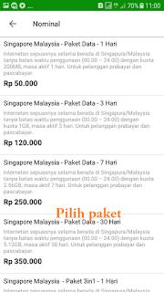 cara membeli paket data roaming telkomsel xl indosat tri online