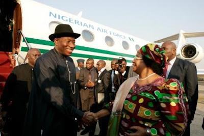 president jonathan private jet malawi joyce banda
