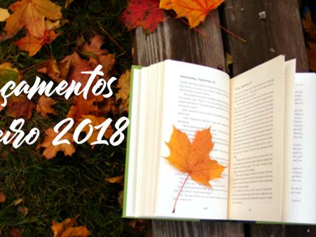 Wish list literária de Janeiro - Lançamentos Janeiro 2018