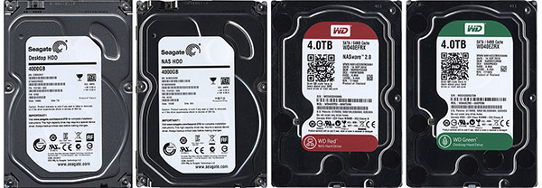 Comparison: 4 hard drives 3.5 '' to 4 TB 5400-5900 rpm