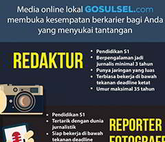 Lowongan Kerja di Media Online Gosulsel