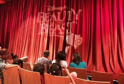 Curtain at Disney's Beauty and the Beast at People's Theatre