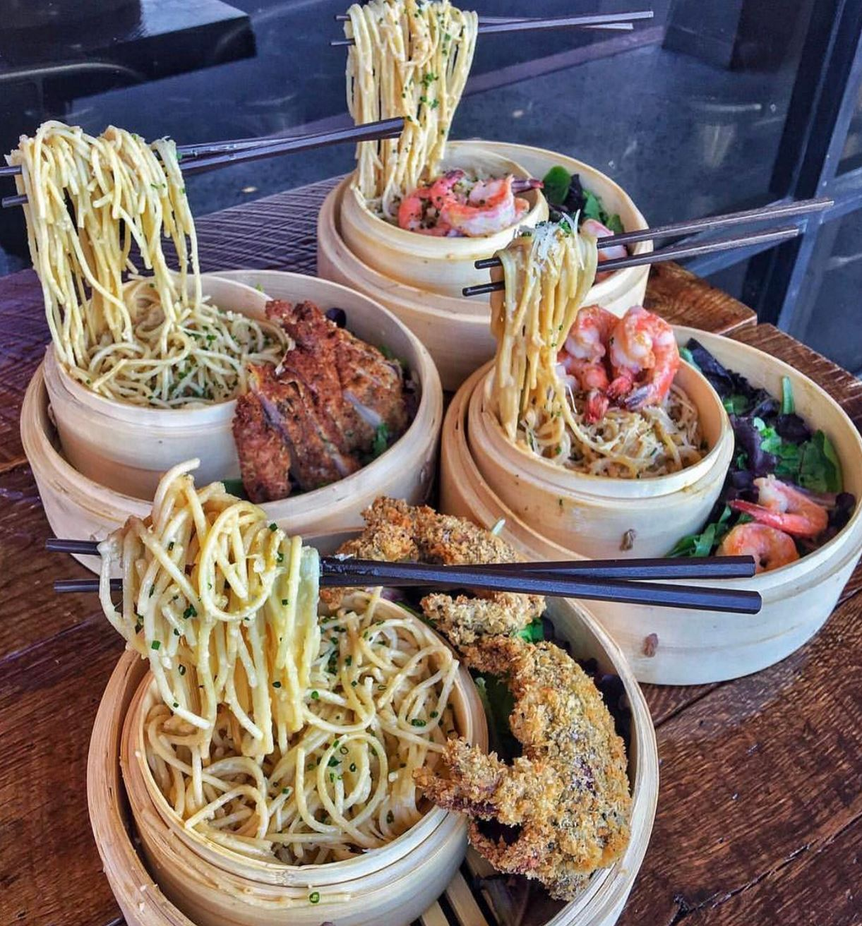 Check Out These FLOATING NOODLES from Neptunes Raw Bar In Artesia!