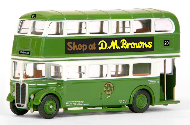 EFE Subscriber special model. 10135 - AEC RT Bus - Dundee Corporation Registration number JXC 175, fleet number 220.  Operating route 20 to Ninewells.  Special Retro Low Price of £18.00 inc UK P&P