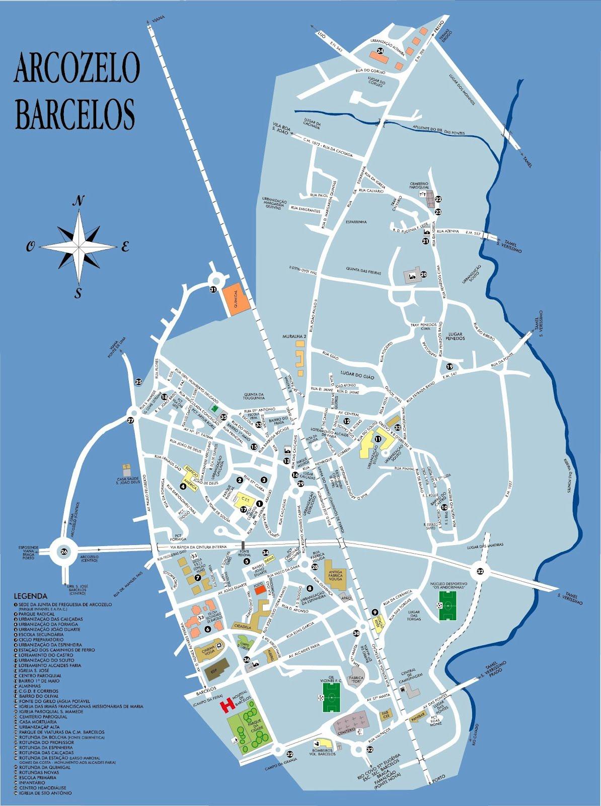 mapa arcozelo barcelos Arcozelo em Movimento: IGREJA PAROQUIAL mapa arcozelo barcelos