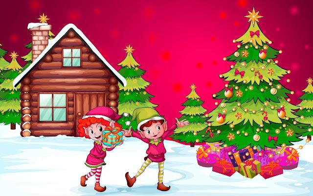 Merry Christmas Tree Images Cartoon 2018