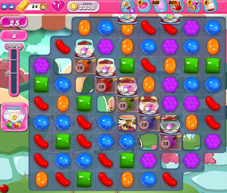 Candy Crush Saga level 2336