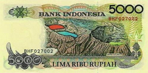 uang 5ribu jadul indonesia