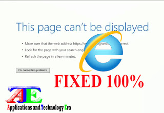 This page can't be displayed: error internet explorer