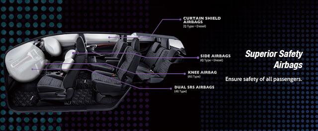Innova V được trang bị an toàn tới 7 túi khí