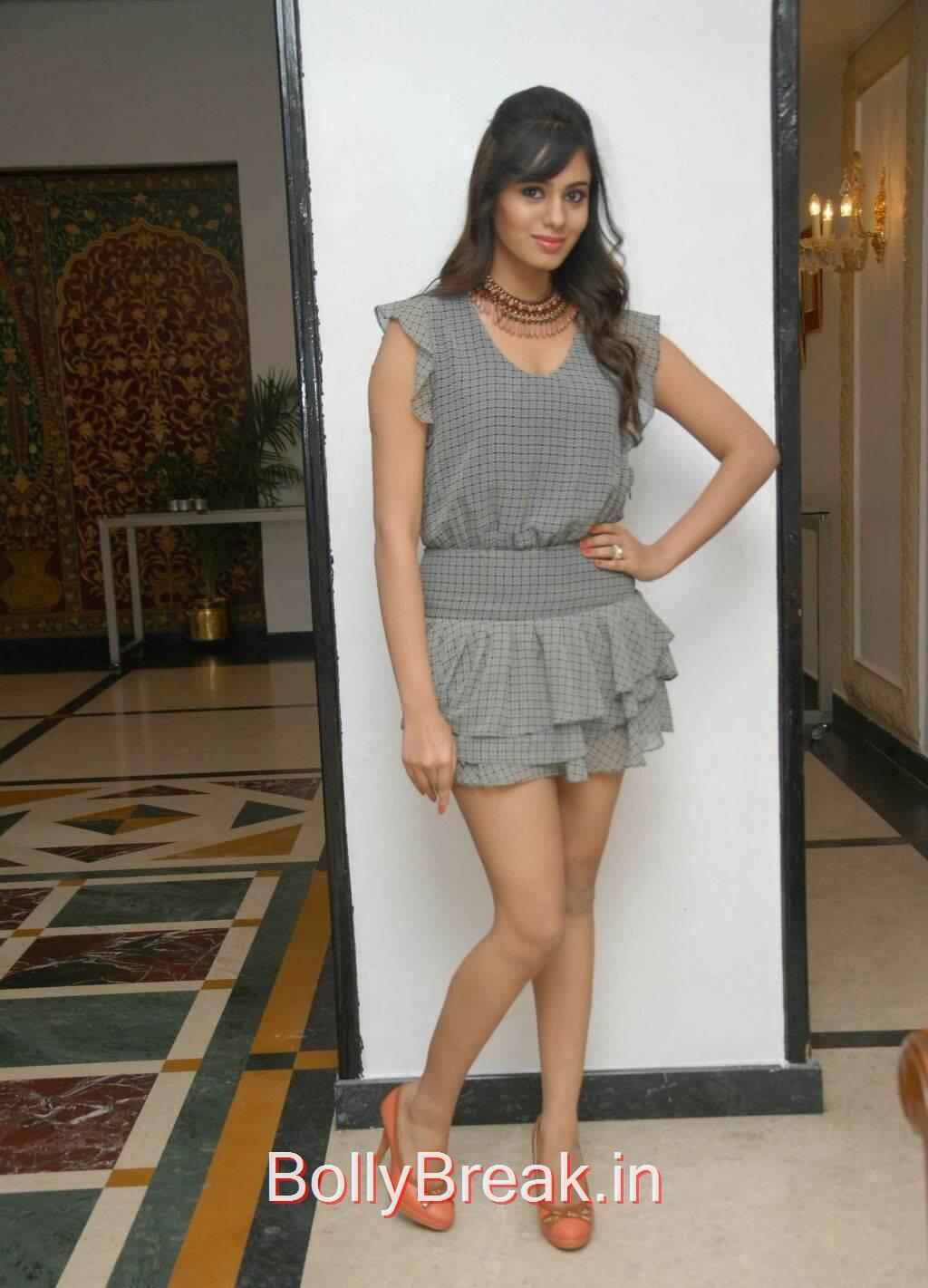 Deepa Sannidhi Pics, Deepa Sannidhi Hot Pics in Grey Colour Frock