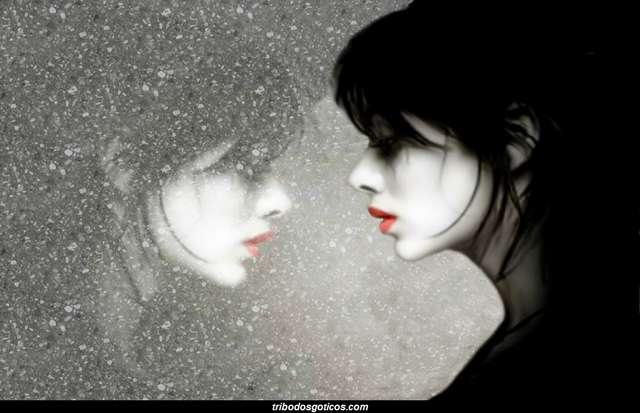 gotica reflexo sombra triste