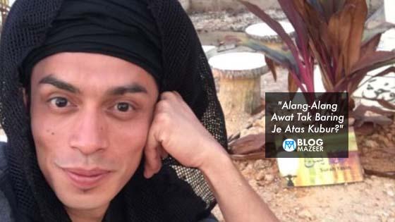 """""""Alang-Alang Awat Tak Baring Je Atas Kubur?"""" - Selfie Di Kubur Ayah, Tindakan Iqram Dinzly Dipersoal Netizen"""