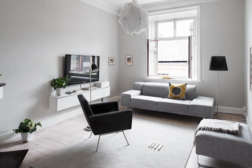 LEUCHTEND GRAU InteriorMagazin celebrating soft Minimalism Kleine Wohnung stilvoll einrichten