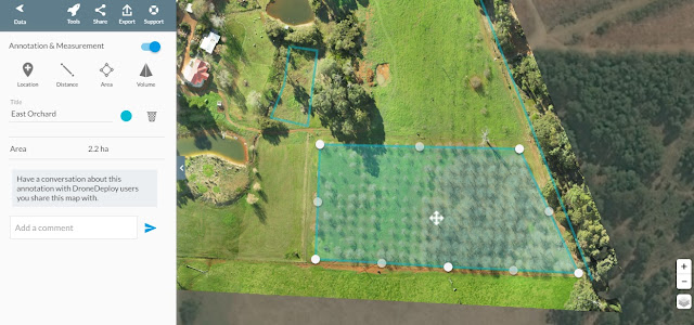 Chestnut Brae Drone scan Small farm planning map using Drone Deploy - Image 5