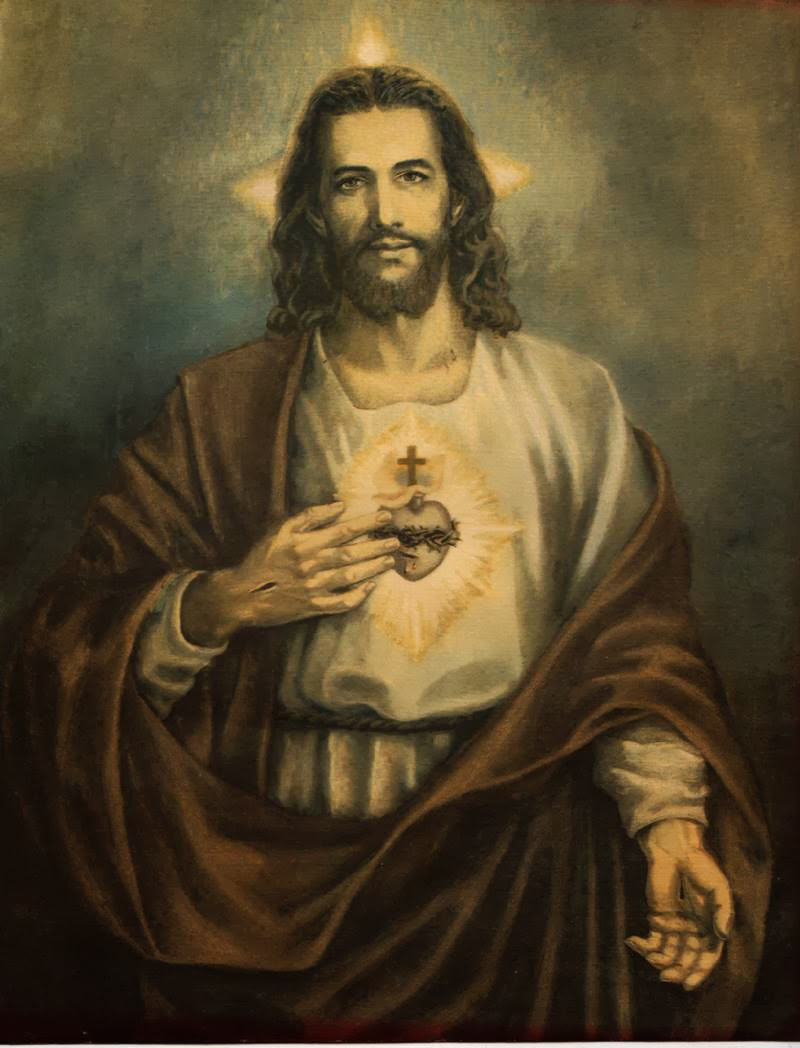 The Sacred Circle Of Water: JEANNE'S HOUSE AFIRE : LITANY OF THE SACRED HEART OF JESUS
