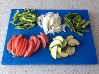 Cortar verduras a láminas