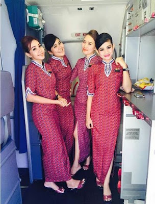 Model Baju Pramugari Batik Air