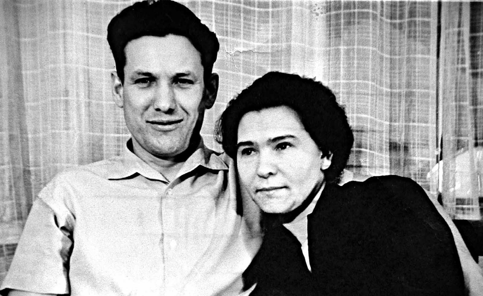 Boris Yeltsin and his wife Naina Yeltsina in 1960s.