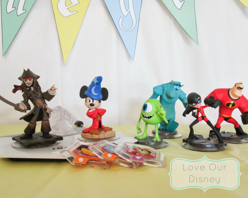 Awesome Disneyland themed part ideas and activities. Disney Infinity to represent Tomorrowland- that makes everyone happy. LoveOurDisney.com
