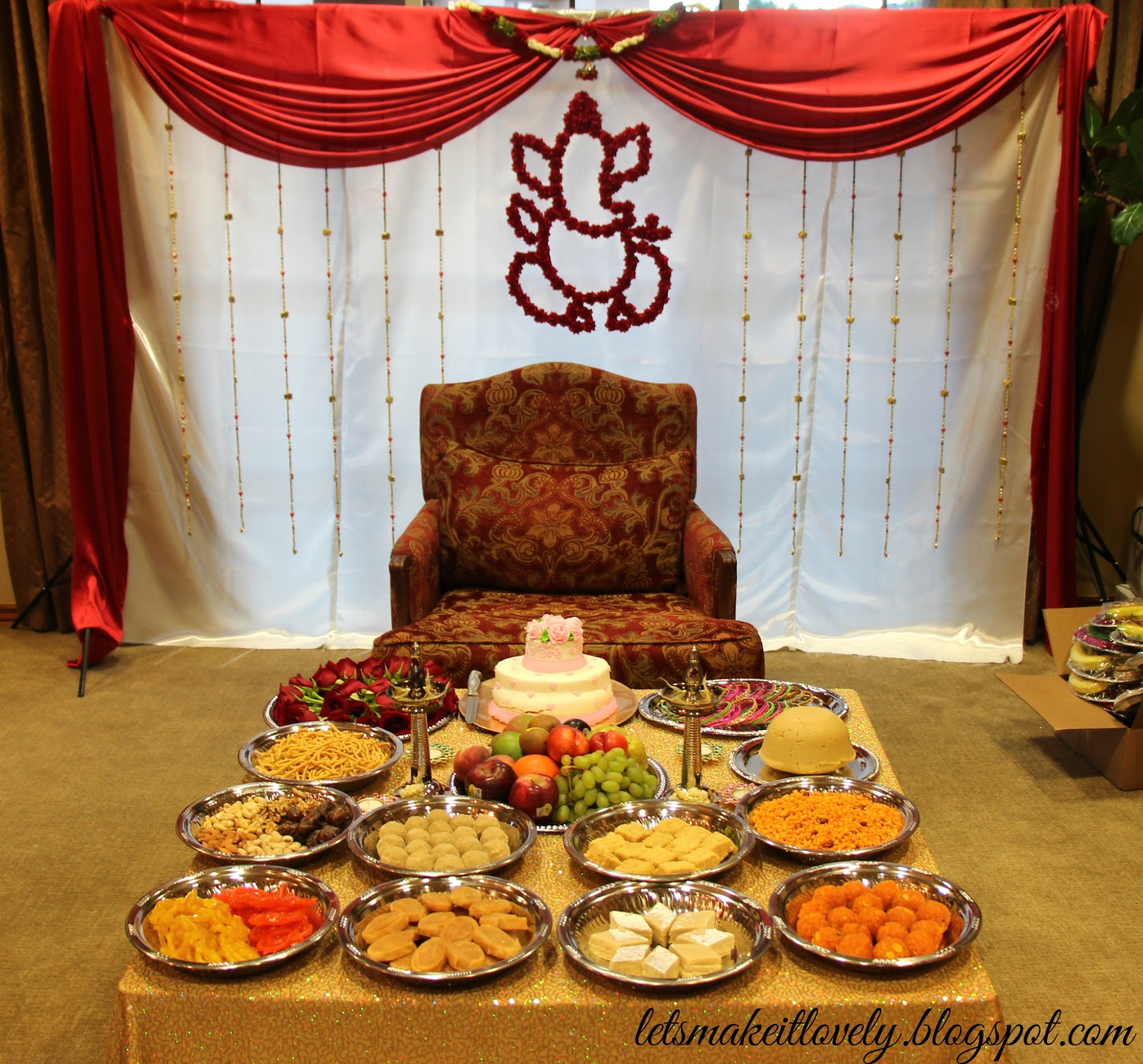 Sreemantham Decoration, DIY South Indian Baby Shower Decor Ideas