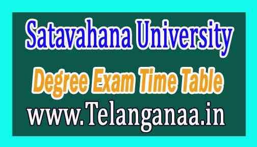 Satavahana University SU Degree 1st year 1st Semester Exam Time Table