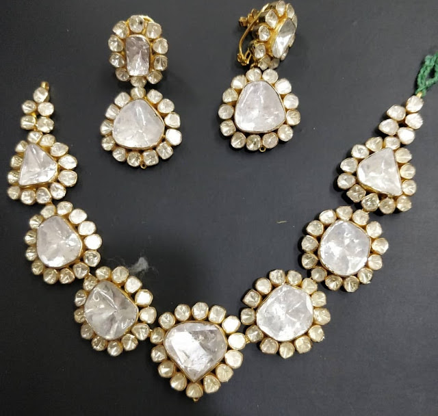 Huge Flat Diamond Opulent Necklace