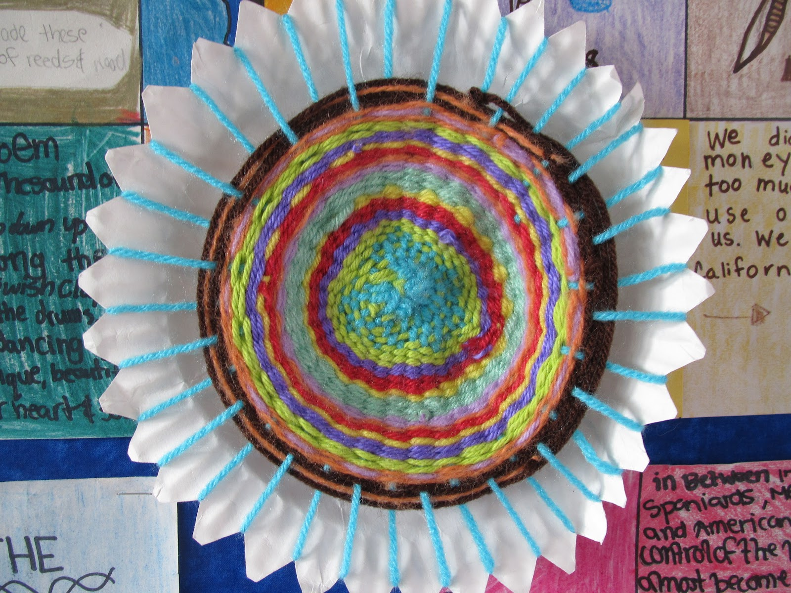 I hope that these pictures help give you a better idea of how to do the weaving! It is a really fun project and the kids LOVED it! & Paper Plate Weaving Step by Step - Lessons With Laughter