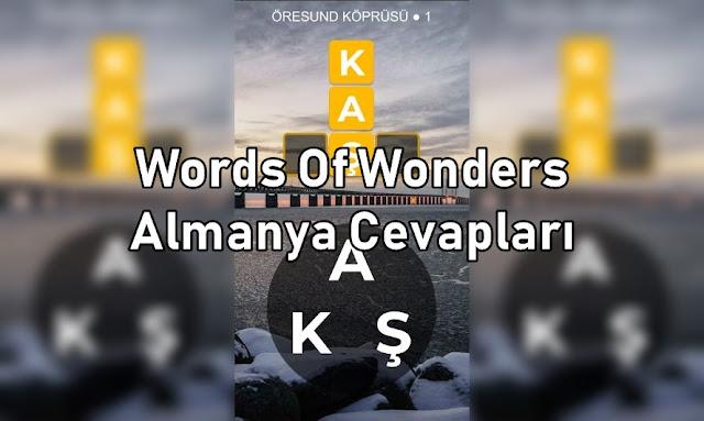 Words Of Wonders Almanya Cevapları