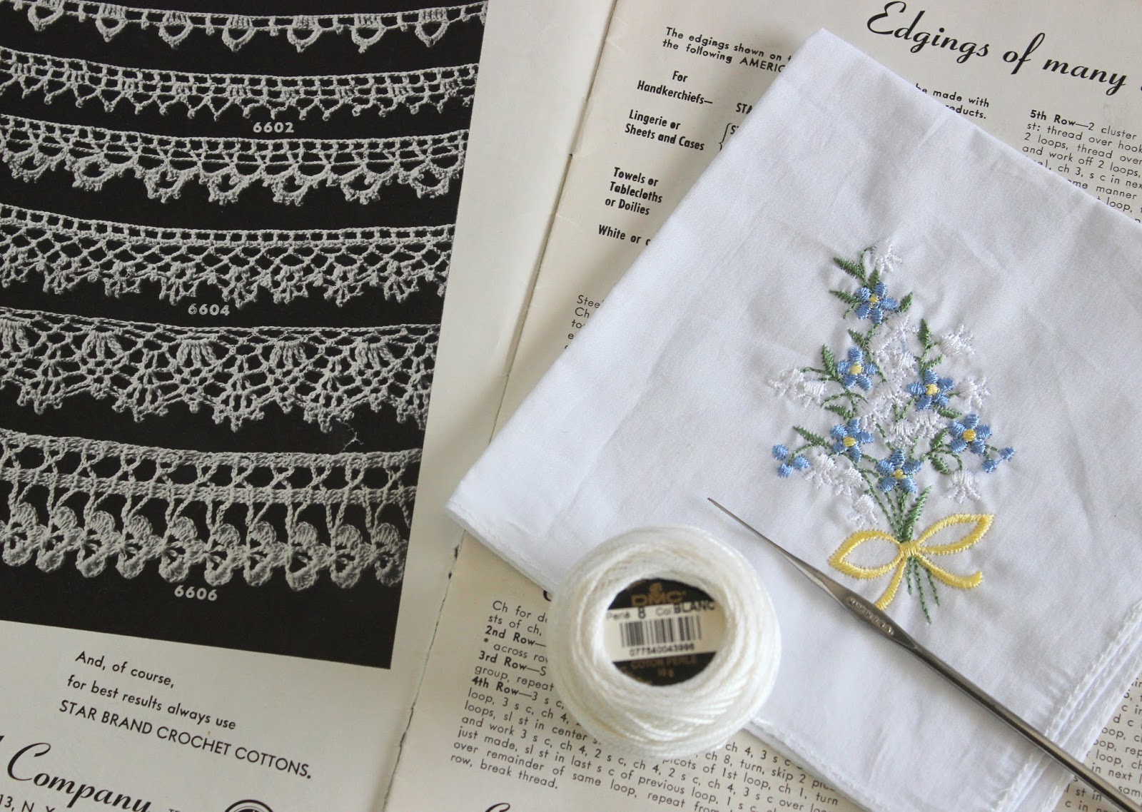Lacy Crochet: Lace Edging for a Handkerchief, Simple ...