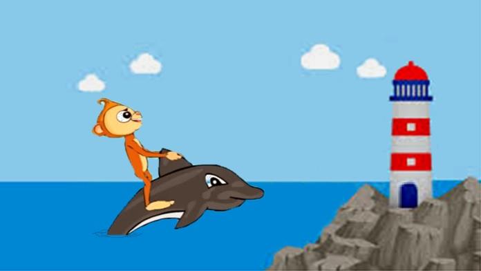 La scimmia e il delfino - Esopo