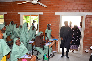 Shettima inspects school in Maiduguri after 2 years of closure, promotes principal to Ministerial Secretary
