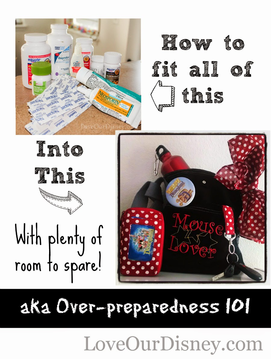 Medicines, and other off the wall items you will want in your bag for a day at Disney LoveOurDisney.com