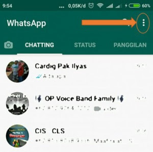 Menu Setting Whatsapp