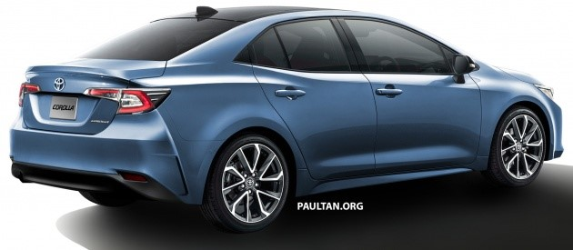 2019 Toyota Corolla Sedan Render Ms Blog