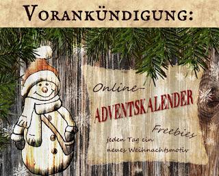 Plakat zur Ankündigung des Adventkalenders auf Papierpotpourri